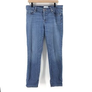 🌿 Ann Taylor LOFT Medium Wash Button Fly Jeans
